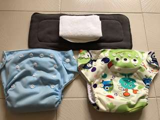 Reusable infant adjustable baby cloth diaper