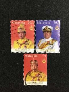 2003 Coronation of HRH Sultan Sharafuddin Idris Shah Sultan of Selangor 3 Values Used Set