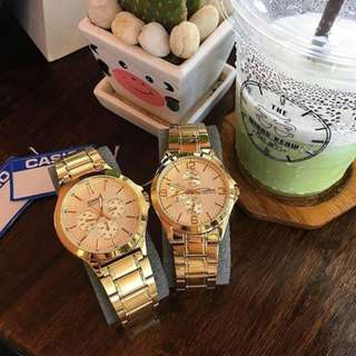 ⌚Casio Couple Gold