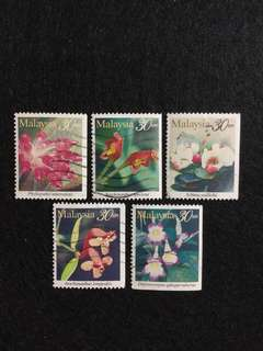 1997 Highland Flowers (Booklet Issue) 5 Values Used Set