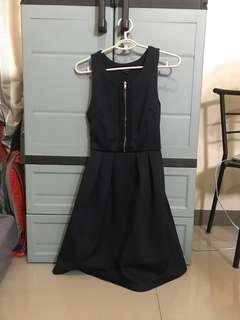 Zalora Fit and Flare Dark Blue Dress