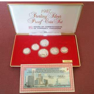1987 Sterling Silver Proof Set