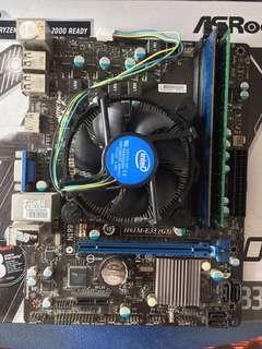 MSI H61M-E33 + INTEL I5-3470 +8gb DDR3 RAM