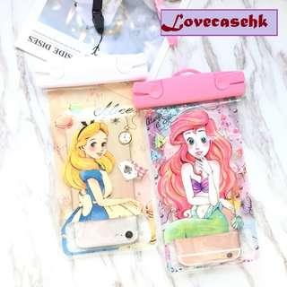 手機防水袋(尺寸5.5寸內都可用) : 愛麗絲美人魚透明防水袋