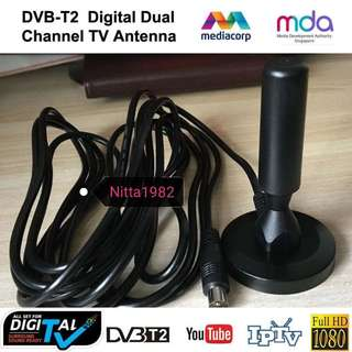 Instocks...Best Antenna for TV HDTV Digital DVB-T2/FM Dual channel. Super Receiving Quality.