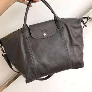 ** SOLD ** Preloved LONGCHAMP Le Pliage Cuir