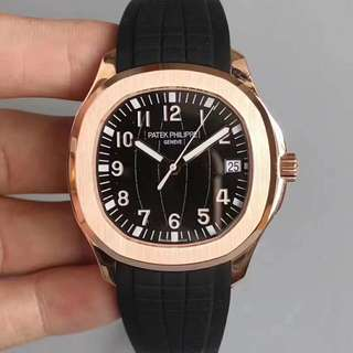 Patek Philippe Rose Gold Black/Blue Dial Swiss 324 SC