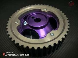 Cam Shaft Pulley HKS For Proton Wira 1.6 SOHC Purple color T7 Aluminium