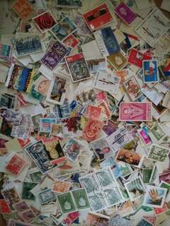 World stamps mix 1000 pcs