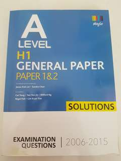 (A Level) GP TYS Solutions