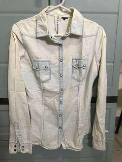 H&M Light washed Denim polo