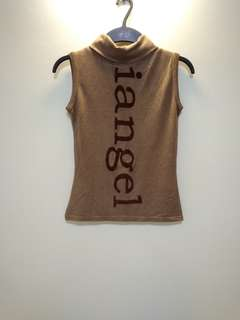 Brown Halter Neck Top