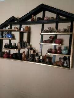 Pajangan + isi koleksi keramik animal,guci,