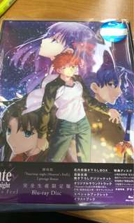 Fate Stay Night Heavens Feel Limited edition blue ray set