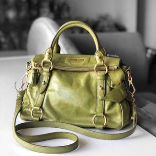 Authentic Miu Miu Vitello Lux Green