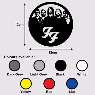 FOO FIGHTERS GROUP Premium Vinyl Sticker (Music Grunge Rock Dave Grohl)