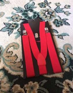 Brattele suspender overall merah H&M new ori