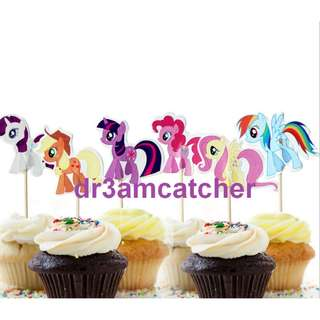 24 pcs My Little Pony cupcake toppers