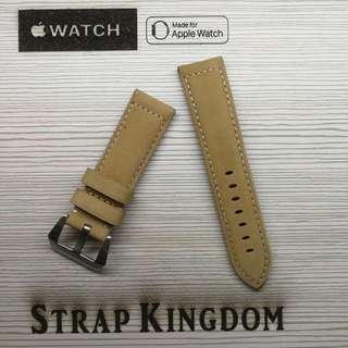 Applw watch - 24mm 麂皮卡奇色 C142 代用錶帶(PAM,APPLE WATCH合用)