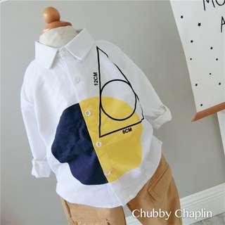 Geometry Pattern Long Sleeve Shirt