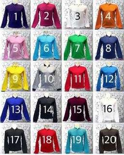 GROSIR Baju Kaos Polo Shirt Panjang.