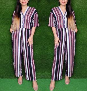 ZARA INSPIRED COTTON STRETCHABLE JUMPSUIT