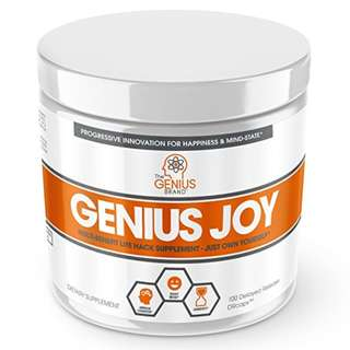 [IN-STOCK] Genius Joy - Serotonin Mood Booster for Anxiety Relief, Wellness and Brain Support, Nootropic Dopamine Stack with SAM-E, Panax Ginseng and L-Theanine – Replace Antidepressants Naturally, 100 VCaps