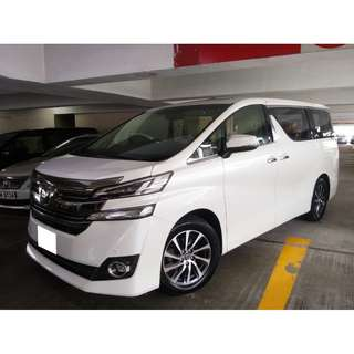 TOYOTA VELLFIRE 3.5 EXECUTIVE LOUNGE 2015