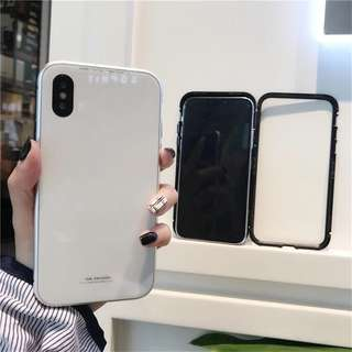 Magnetic glass case