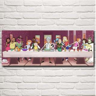 Rick and Morty Last Supper Poster Print