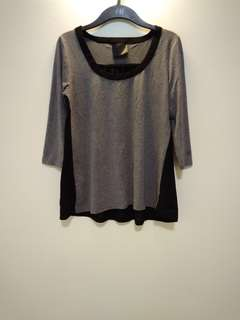 Grey Basic Long Top