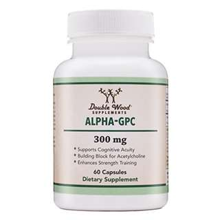[IN-STOCK] Alpha GPC Choline Supplement, Pharmaceutical Grade, Made in USA (60 Capsules 300mg) - Double Wood Supplements