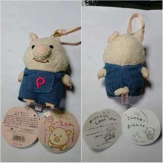 日本pu-ton豬 puton ぷーとん 吊帶褲 小豬娃娃 小豬玩偶 小豬吊飾 可愛