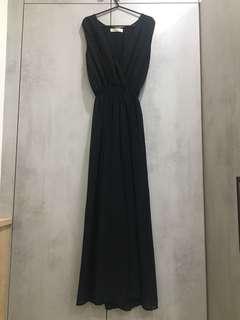 黑色雪紡褲裙/禮服