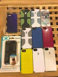 🚚 出清Speck Phone Case iPhone5/5S糖果亮面防滑條珍珠光亮面觸感軟殼防震耐摔手機保護殼