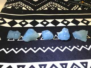 海蓝宝水晶原石