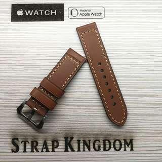 Apple watch - 24mm 油皮棕色 B122代用錶帶 (PAM,APPLE WATCH合用)