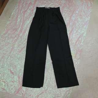 西裝造型拖地寬褲