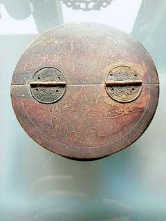 民國時代日本攜帶式中國銅筆洗盒子