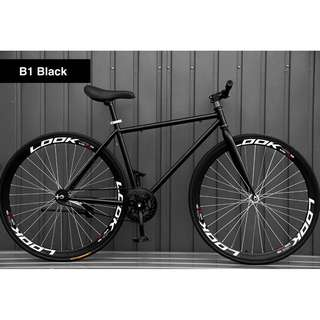 """🚚 *FreeDelivery/Gifts* 26"""" Black Frame And Black Rim Fixie With Black Tyre Coaster Brakes New"""