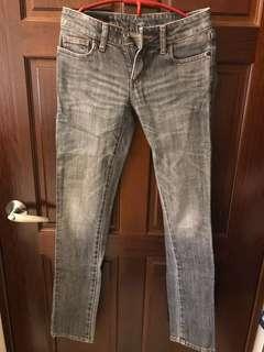 🚚 Lee 黑灰色牛仔褲 25 26腰