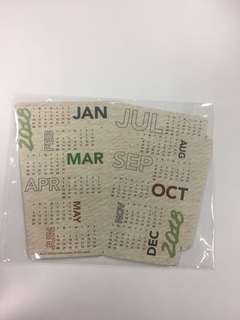Starbucks Desk Calendar