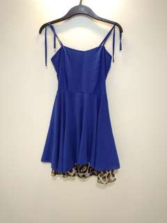 Blue Basic Sheer Dress