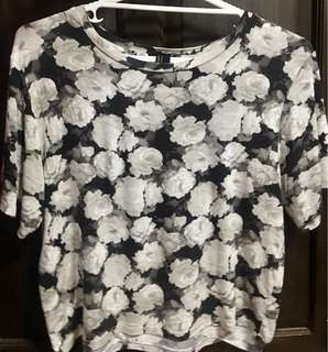 Forever 21 floral crop top (M)