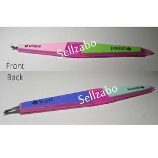 Pink Colour : Nails Tools Shape Polish Buffer Smooth Sellzabo