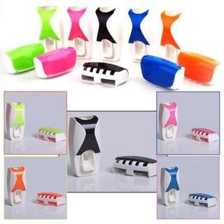 Gv Toothpaste Dispenser and Toothbrush Holder