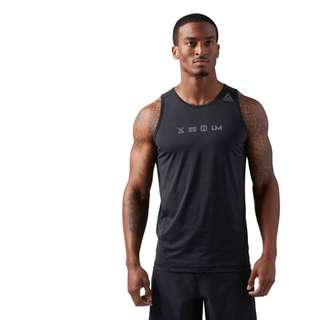 Reebok 全新 Les Mills Bodycombat 黑色 健身 運動 訓練 重訓 無袖 上衣 背心 運動背心