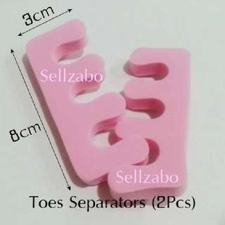 2 Pcs Nails Tools : Toes Separators Pink Colour Sellzabo