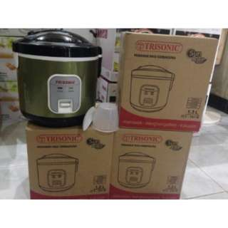 Jual Harga Murah Trisonic Magic Com Rice Cooker 3in1 Isi 1,2 Liter