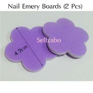 Purple Colour : 2 Pcs Nail Tools Flora Emery Boards File Sellzabo
